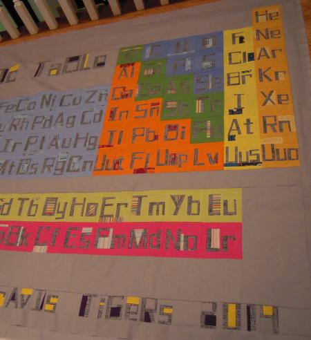 Thesewcial project view periodic table of elements periodic table the lettering on this quilt is paper pieced and is an exact replica of the periodic table urtaz Image collections